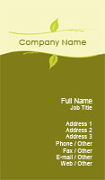 Green Vines Business Card Template